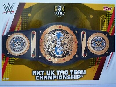 Topps Slam Attax Universe Nxt Uk Tag Team Championship Belt Card Comb P&P