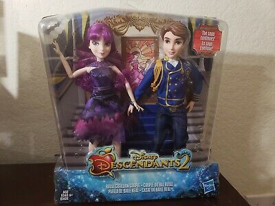 Disney Descendants 2 Royal Cotillion Couple Dolls Two Pack Figure Doll New