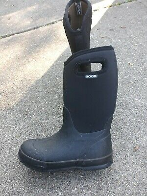 BOGS Classic High Unisex Youth Kids Girls Boys Boots Black Size 3