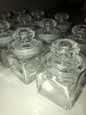 Antique Glass Apothecary Spice Square Jars- Early 1900's (13)