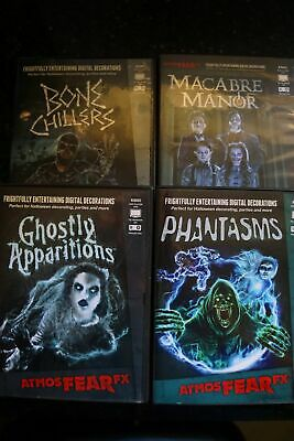 AtmosFearFX DIGITAL DVD Decorations ***4 Pack***
