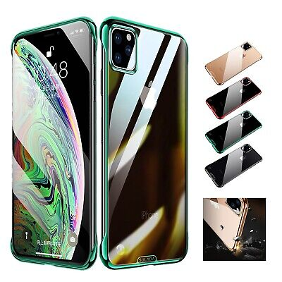 For iPhone 11 Pro max Plating PC Slim Glossy Scratch Protective Back Case Cover
