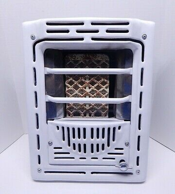 Vintage mid century White Porcelain Gas Bathroom wall heater Art Deco Peerless