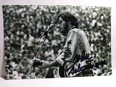 JOHN SABASTIAN  Hand Signed Autograph  4X6 Photo  - WOODSTOCK - MUSIC LEGEND