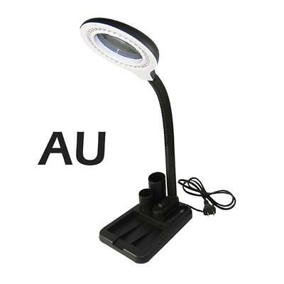 5x 10X Desktop Magnifying Lamp Table Task Craft Work Bench LED Hobby Quilting AU