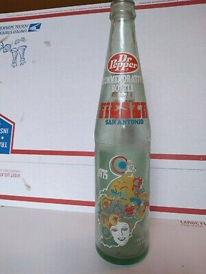 1975 Dr Pepper Fiesta San Antonio 16 Oz Commemorative Bottle Viva Tx