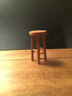 Miniature Wooden Stool For Dollhouse