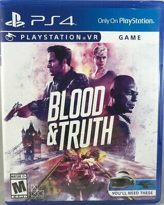 Blood & Truth PlayStation 4 Playstation VR PS4 FREE SHIPPING