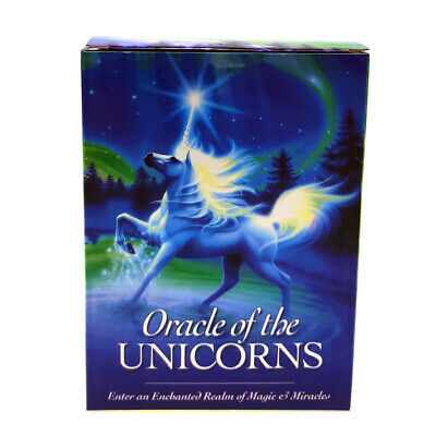 New unicorn oracle cards deck mysterious tarot cards -divination fate board game