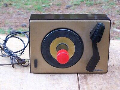 Vintage RCA Victor 45-J-2  Record Player Turntable Orig. Box+Manual Parts Repair