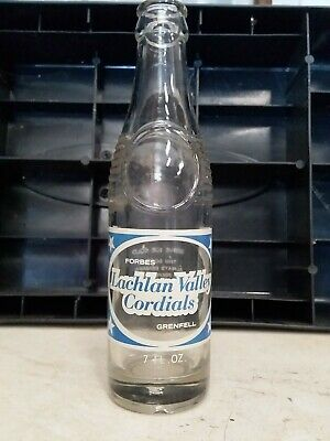 Lachlan Valley Cordials Ceramic Label Soft Drink Bottle Pyro Forbes Grenfell.