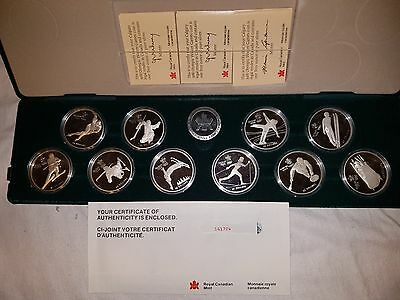 1988 Canada 10 x $20 Calgary XV Olympic Winter Games Proof Set ~ 92.5% Silver