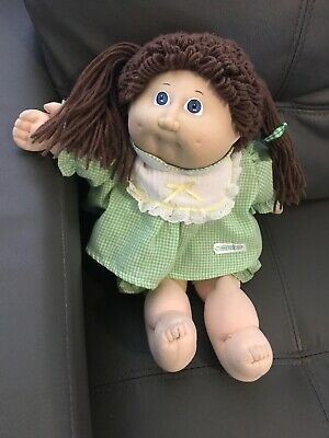 1985 Cabbage Patch Doll Brown Hair Original Clothes