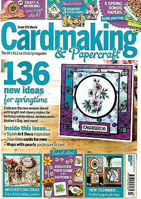 Cardmaking & Papercraft Magazine No 193  March 2019.   No Free Gift