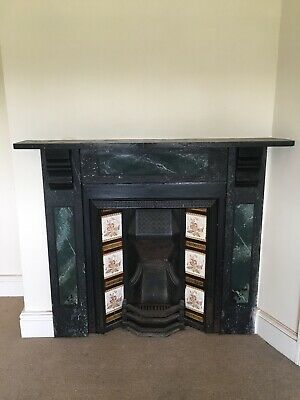 Victorian Fireplace, Tiles, Marble Surround & Mantle Piece