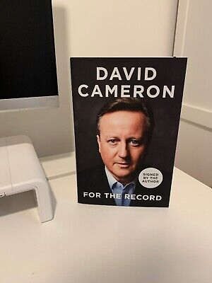 """""""For the Record"""" - David Cameron - SIGNED FIRST EDITION - FREE P+P"""