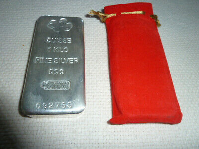 PAMP SUISSE 1kg 999 Fine silver bar. Last one... Posted Express (Signature) Coin