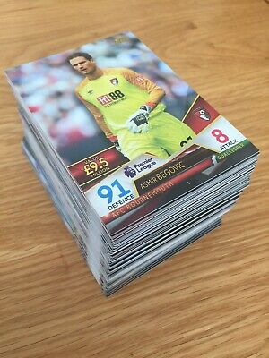 Topps Match Attax ULTIMATE 2018-2019  Complete Set of 100 Base Cards MINT