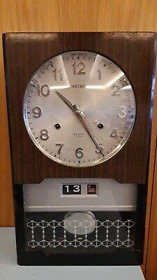 1960s/70s Seiko 30 day wind-up wall clock with chimes and calendar function