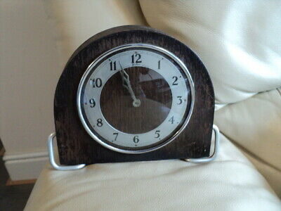 Vintage BENTIMA Wooden Case Hand winding Mantel Clock  ,Working