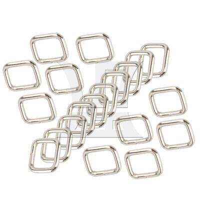 20x Silver 2cm Multi-function Metal Rectangle Shape Ring Buckle Tool