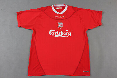 Mens Reebok Liverpool Home football shirt 2002 - 2004 Size L