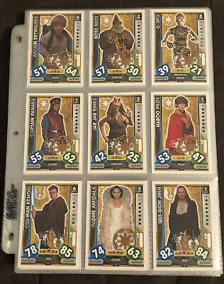 Near Complete Set 269/272 Star Wars Attax Universe Trading Cards Topps Foil MINT