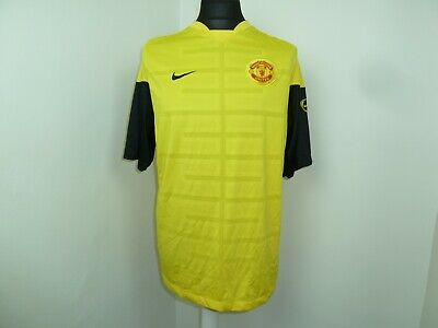 MANCHESTER UNITED Football Shirt  YELLOW  MAN UNITED SOCCER JERSEY Large