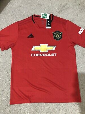 Manchester United Home Kit Man UTD Red Shirt MUFC RED L LARGE 2019/2020 NEW