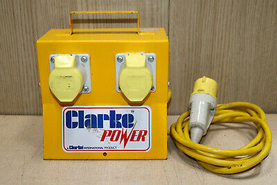 Clarke 110v 4 way splitter site box 16A extension cable
