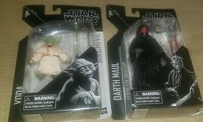 Star Wars The Black Series Archive Darth Maul and Yoda Factory Sealed