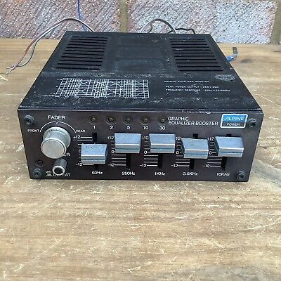 Retro Alpine PB-200 Graphic Equalizer Booster mid 1980s