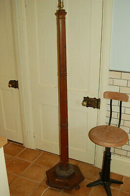 ARTS and CRAFTS ,floor lamp in the gothic style,oak,retro vintage,carved