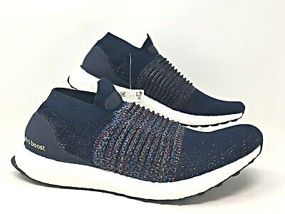 Adidas UltraBoost Laceless Mens Running Shoes Multicolor Navy/Black/White CM8269