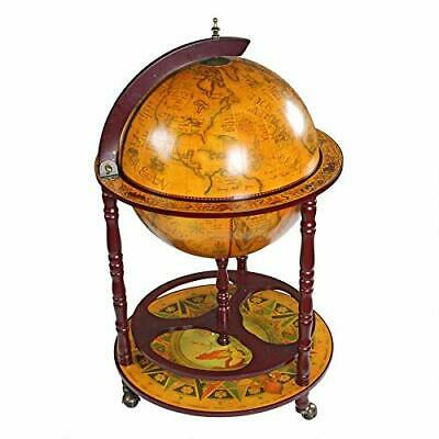 Design Toscano Sixteenth-Century Italian Replica Globe Bar Cart Cabinet on Wheel