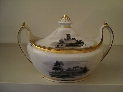 Early 19th Century Hand painted Sucrier possibly Coalport   20/233