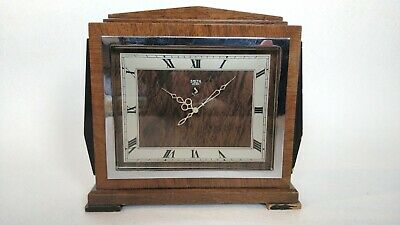 SMITHS 'SECTRIC' 1930s Art Deco Electric Clock. Wooden case. Working order.
