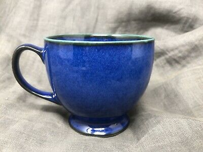 Denby England METZ Cup Mug Tea Coffee Cobalt Blue Green 8 ounce New