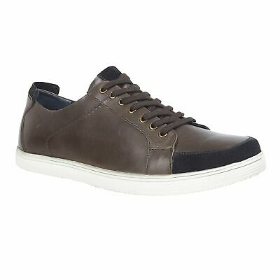 Lotus Kyle Brown Leather Lace Up Trainers Shoes