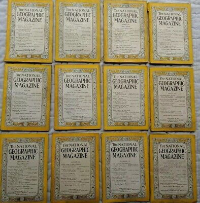 1948 National Geographic Magazines Lot Of 12 Complete Year Coca Cola