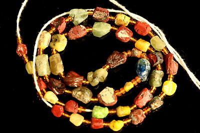 Ancient Roman Glass Beads Afghani Glass Beads Roman Glass Strand #923