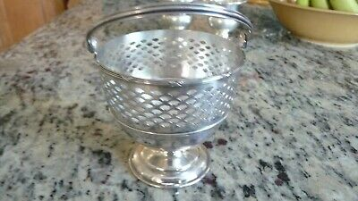 Antique Meriden Britannia Co Sterling Silver Basket #48  107 Grams