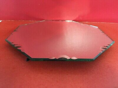 "PLATEAU CENTRE DE TABLE octogonal  EN MIROIR 1920 Vintage ""HY07"""