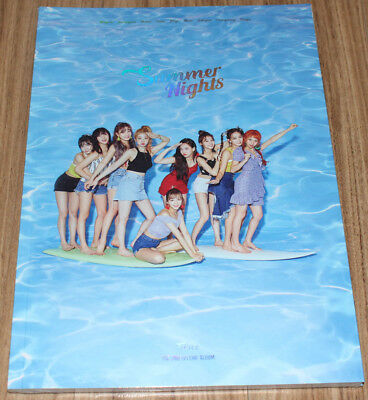 TWICE SUMMER NIGHTS 2nd Special Album A Ver. CD + PHOTOCARD SET + FOLDED POSTER