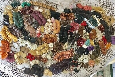 3 3/4 Pounds of Mixed Vintage Buttons, Assorted Shapes, Material & Sizes