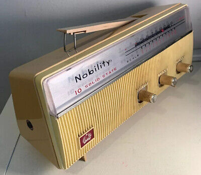 Nobility 10 Solid State AM Radio Vintage RO Korea Tested Works