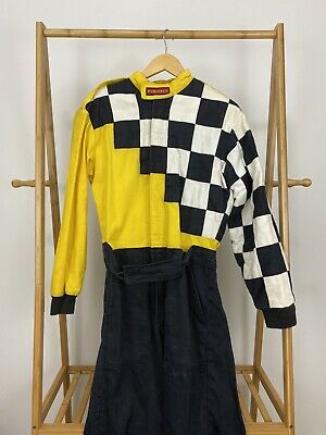 Pyrotect Checkered Fire Auto Racing Nomex Suit