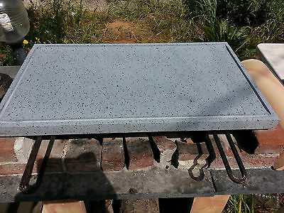 Plate In Lava Stone Of The Etna Ollare Grill Tile 46X37X2 Barbecue Sicily