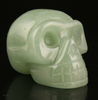 Rare China Jade Hand-Carved Skulls Cool Gift High-End Collection