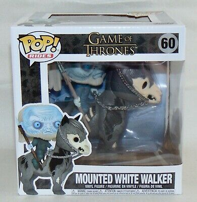 New Funko POP Game Of Thrones Mounted White Walker Vinyl Figure #60